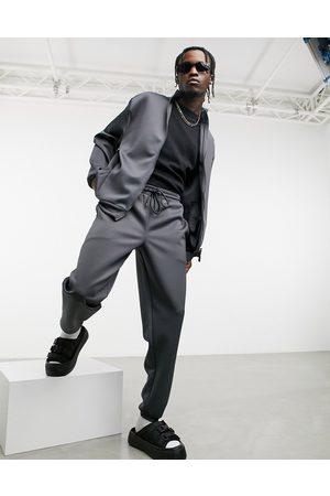 ASOS Survêtement oversize avec veste et jogger en néoprène - Gris anthracite