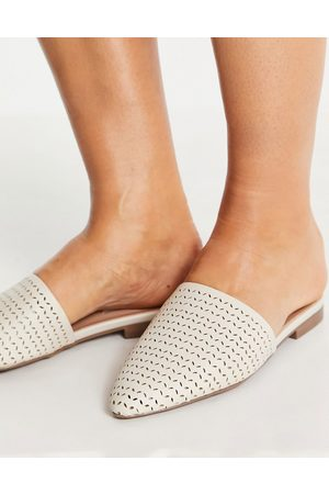 Steve Madden Femme Mules & Sabots - Tania - Mules plates pointues - Ivoire