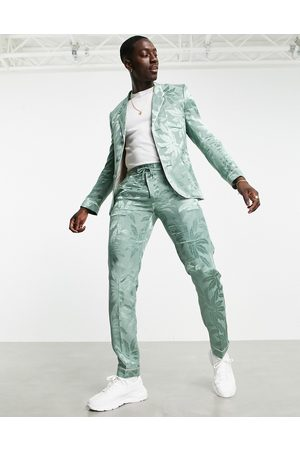ASOS Pantalon de pyjama slim effet satiné à fleurs