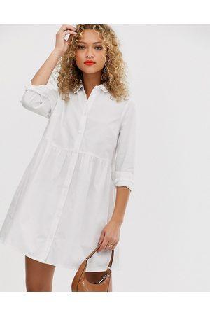 ASOS Robe chemise courte coupe babydoll en coton biologique