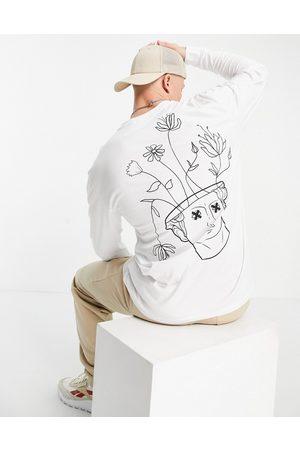 Only & Sons Homme Manches longues - T-shirt à manches longues avec imprimé tête de Vénus au dos