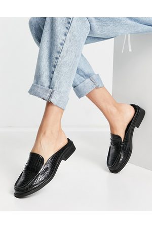 ASOS Maximal - Mocassins style mules style années 90 - croco