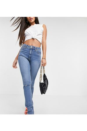 ASOS ASOS DESIGN Tall - Jean skinny vintage à taille mi-haute avec déchirures - Délavage moyen