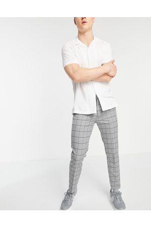 New Look Pantalon court habillé ajusté - Carreaux