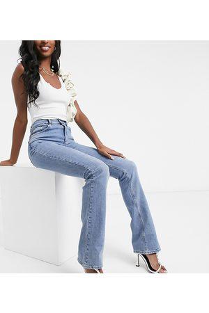 ASOS ASOS DESIGN Tall - Jean stretch évasé taille haute style années 70 - Délavage moyen