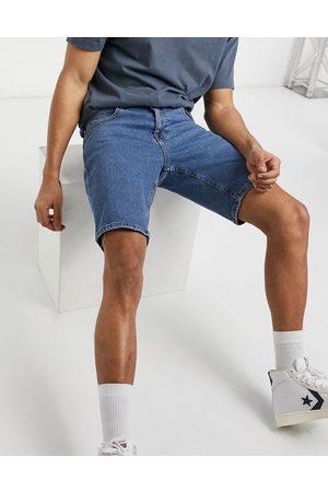 ASOS Short en jean stretch - délavé moyen