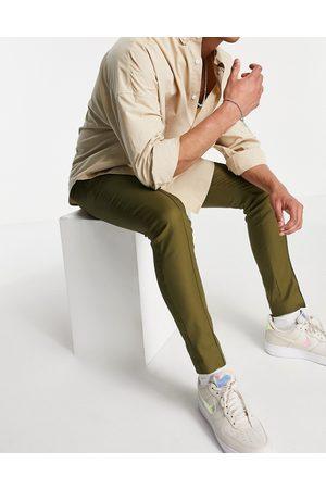 ASOS Homme Pantalons Slim & Skinny - Pantalon skinny habillé style technique - Kaki