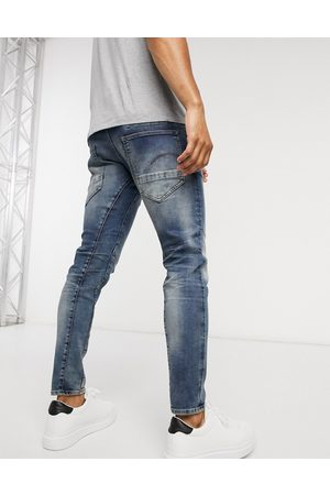 G-Star D-Staq 3D - Jean slim à délavage moyen effet usé