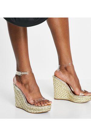 ASOS Femme Sandales - Pointure large - Espadrilles à semelle compensée - Transparent