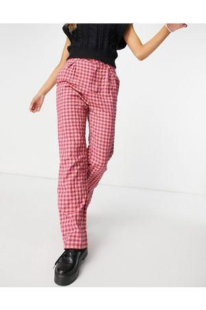 Daisy Street Pantalon large taille haute à carreaux vichy vintage