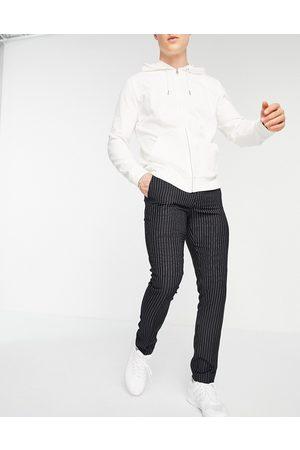 New Look Pantalon skinny habillé - marine à fines rayures
