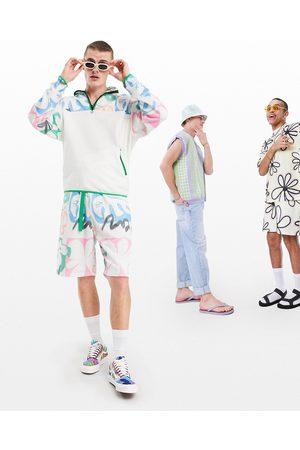 ASOS Short oversize d'ensemble avec imprimé fleuri et ceinture en tissu