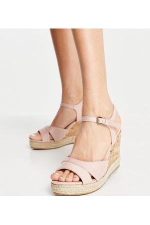 Glamorous Wide Fit Sandales compensées en liège - Blush-Neutre