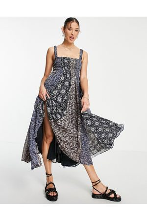 Free People Come Together - Robe nuisette mi-longue à patchwork floral