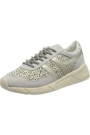 Gola Eclipse Savanna, Sneaker Femme, Off White/Cheetah/Gold, 39 EU