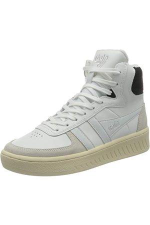 Gola Slam High, Sneaker Femme, White Black Off White, 36 EU