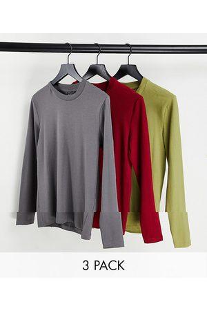 ASOS Lot de 3 t-shirts moulants à manches longues