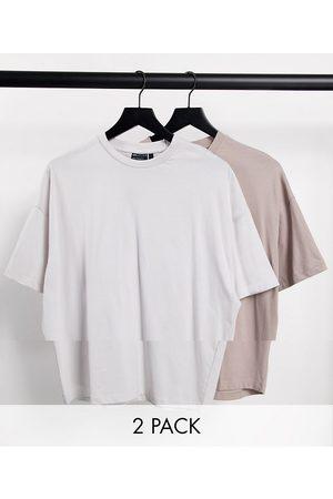 ASOS Lot de 2 t-shirts oversize ras de cou en coton biologique