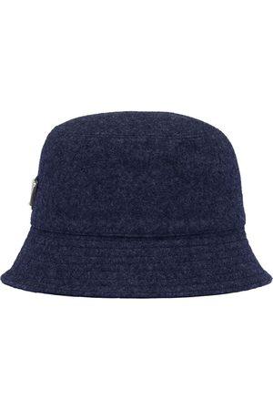 Prada Logo plaque wool bucket hat