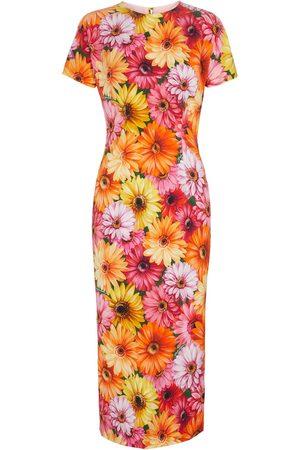 Dolce & Gabbana Robe midi en soie à fleurs