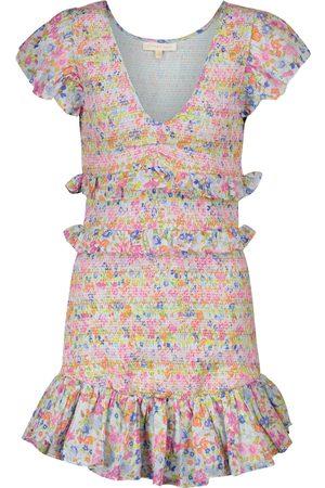 LOVESHACKFANCY Mini-robe Sonora à fleurs en coton