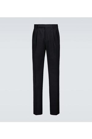 Brunello Cucinelli Pantalon raccourci en laine et coton