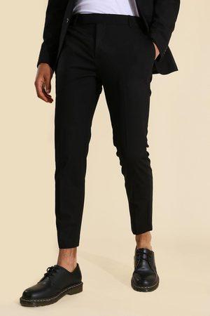 Boohoo Skinny Crop Suit Trousers Homme