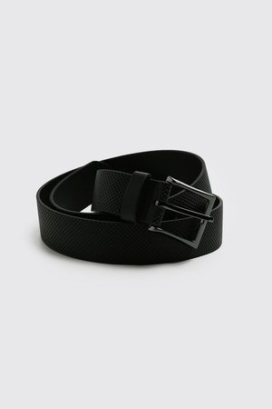 Boohooman Faux Leather Textured Belt Homme