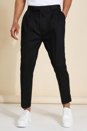 Boohoo High Rise Tapered Crop Tailored Trouser Homme