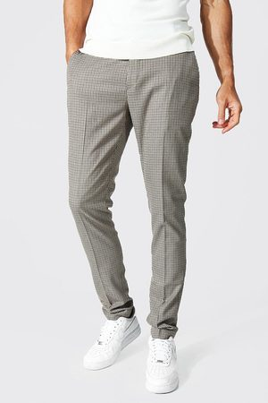 Boohoo Tall Skinny Dogtooth Trouser Homme