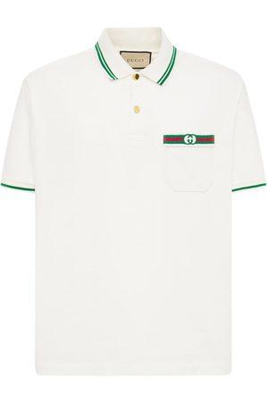 GUCCI Polo En Coton Détail Web Logo