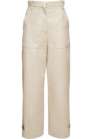 Agnona Pantalon En Coton Biologique Mélangé