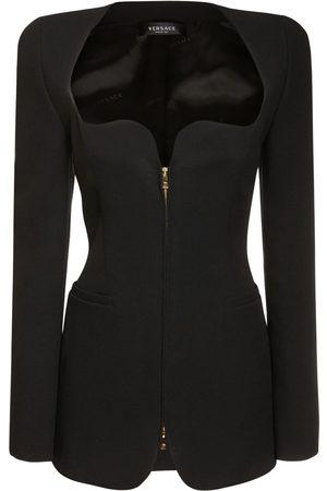 VERSACE Femme Robes - Mini-robe Zippée En Crêpe