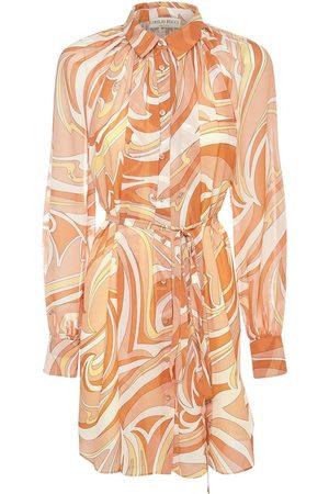 Emilio Pucci Mini-robe En Georgette Imprimé