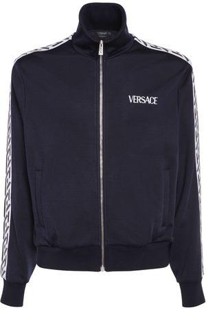 VERSACE Homme Sweats zippés - Sweat-shirt Zippé Avec Bandes Monogramme