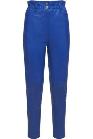 REMAIN Pantalon En Cuir Taille Haute Gracele