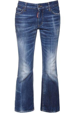 Dsquared2 Femme Jeans - Jean Court En Denim De Coton