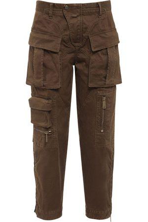 Dsquared2 Femme Cargos - Pantalon Cargo En Sergé De Coton Stretch