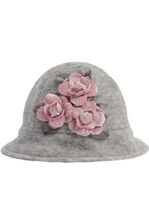 MONNALISA Fille Chapeaux - Chapeau En Laine Mélangée Avec Fleurs Appliquées