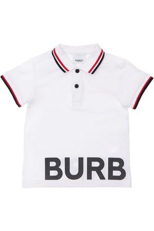 Burberry Polo En Piqué De Coton