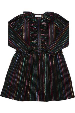 Stella McCartney Robe En Coton De Lurex À Rayures