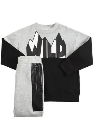 STELLA MCCARTNEY KIDS Sweatshirts - Sweat-shirt & Pantalon En Coton Biologique