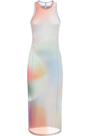 McQ Femme Robes imprimées - Robe Longue En Mesh Imprimé
