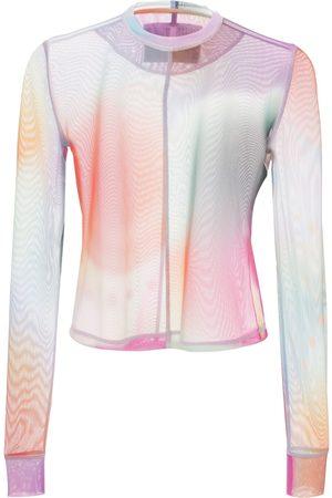 McQ Femme Tops & T-shirts - Top Ajusté En Mesh Breathe