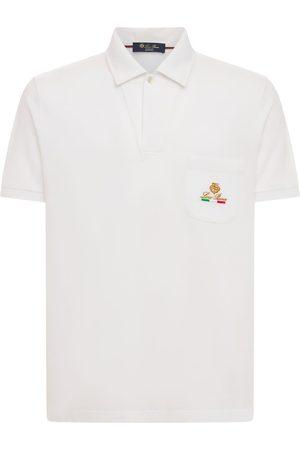 Loro Piana Homme Polos - Polo En Piqué De Coton Brodé Logo