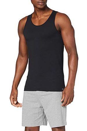 Skiny Herren Tank Top 2er Pack Shirt Multipack Tricot, Black, M (Lot de 2) Homme