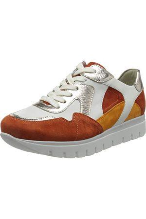Semler Femme Chaussures - Silvia-H, Basket Femme, Mandarine Blanche en Poudre , 37.5 EU