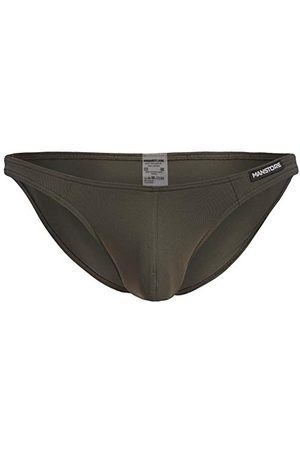 MANSTORE Low Rise Brief Strings, Olive, L Homme
