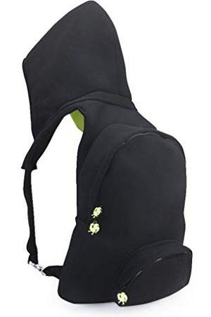 Morikukko Hooded Backpack Black Neon Yellowmixte adulteSacs à dosNoir (Black Neon Yellow)33x8x40 Centimeters (W x H x L)