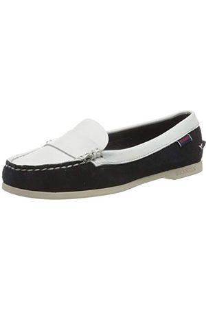 SEBAGO Caroline Suede Lea W, Chaussures Bateau Femmes, (Bluenavy-White A1z), 35.5 EU